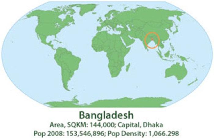 World Bangladesh Map 2